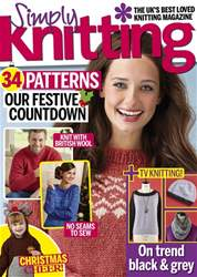 Simply Knitting issue Christmas 2016