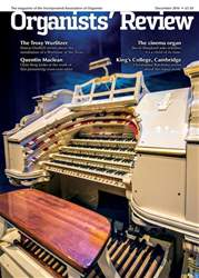 Organists' Review issue December 2016