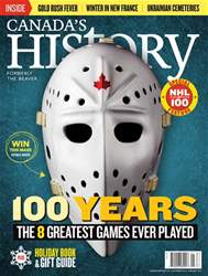 Canada's History issue Dec16/Jan17