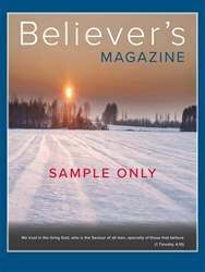 Believer's Magazine Sample Issue issue Believer's Magazine Sample Issue