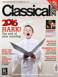 Classical Music issue December 2016