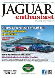 Jaguar Enthusiast issue Vol. 32 No. 12 A 1960's 'Fleet Purchase' of Mark IXs!