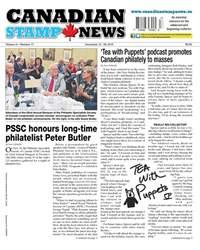 Canadian Stamp News issue V41#17 - December 13