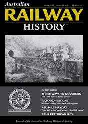 Australian Railway History issue ARH January 2017