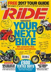 Ride issue March 2017