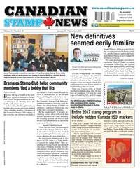 Canadian Stamp News issue V41#20 - January 24