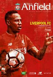 Liverpool FC Programmes issue Liverpool V Swansea 201617