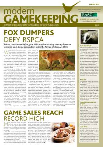 Modern Gamekeeping issue JANUARY 2012