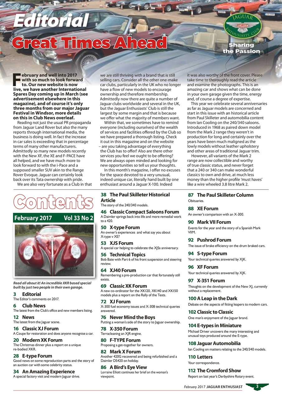 Jaguar enthusiast magazine vol 33 no 2 building your for Build your own net dream