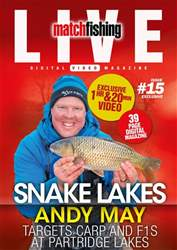 Match Fishing Live Magazine Cover