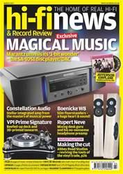 Hi-Fi News Magazine Cover