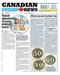 Canadian Stamp News issue V41#23 - March 7