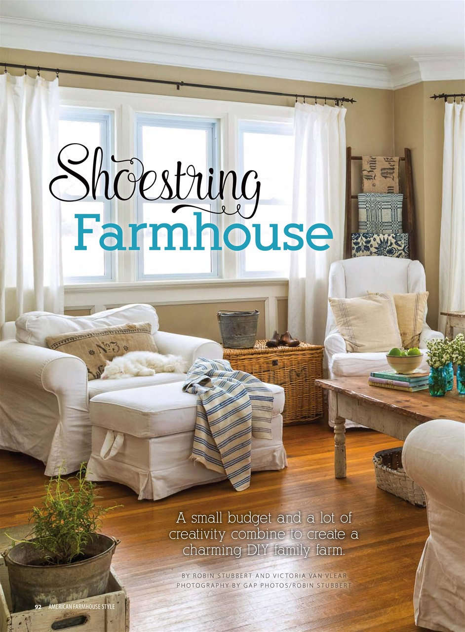 Cottages and bungalows magazine american farmhouse style for American farmhouse style