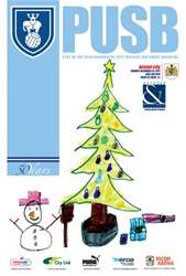 CCFC Official Programmes issue 13 V BRISTOL CITY (11-12)
