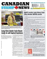 Canadian Stamp News issue V41#25 - April 4