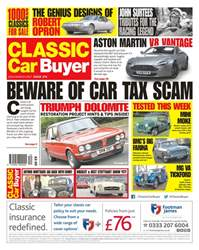 Classic Car Buyer issue No. 374 Beware Of Car Tax Scam
