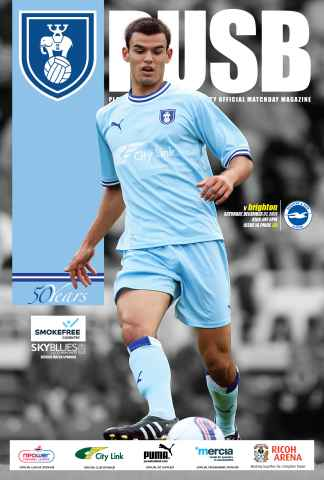 CCFC Official Programmes issue 14 v BRIGHTON (11-12)