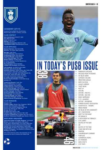CCFC Official Programmes Preview 3