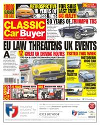 Classic Car Buyer issue No. 375 EU Law Threatens UK Events