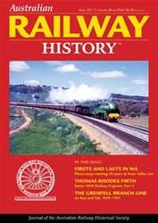 Australian Railway History issue Australian Railway History