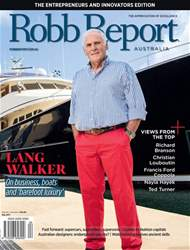 Robb Report Australia issue Robb Report Australia