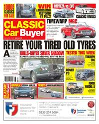 Classic Car Buyer issue No. 378 Retire your tired old tyres