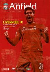 Liverpool FC Programmes issue Liverpool v CrystalPalace