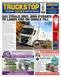 Truckstop News issue No. 392 Gas Stralis Does John O'Groats To Lands End On Signle Fill