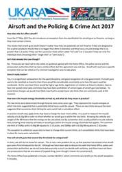 Airsoft Action issue Airsoft and The Policing and Crime Act 2017