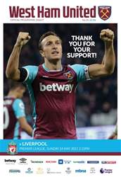 West Ham Utd Official Programmes issue Liverpool