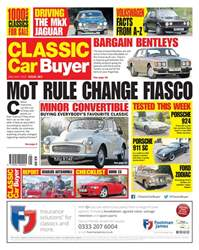 Classic Car Buyer issue No. 383 MoT rule change fiasco