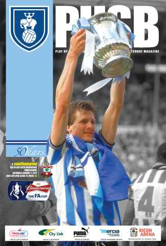 CCFC Official Programmes issue 15 v SOUTHAMPTON (11-12)