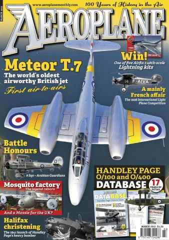 Aeroplane issue No.467 Meteor T.7
