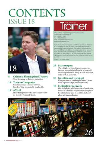 North American Trainer Magazine - horse racing Preview 4