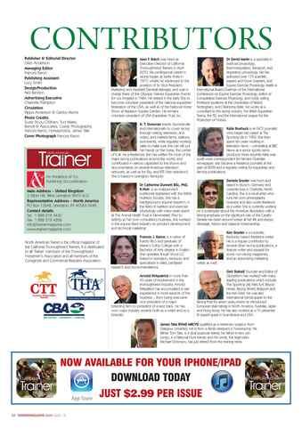 North American Trainer Magazine - horse racing Preview 8