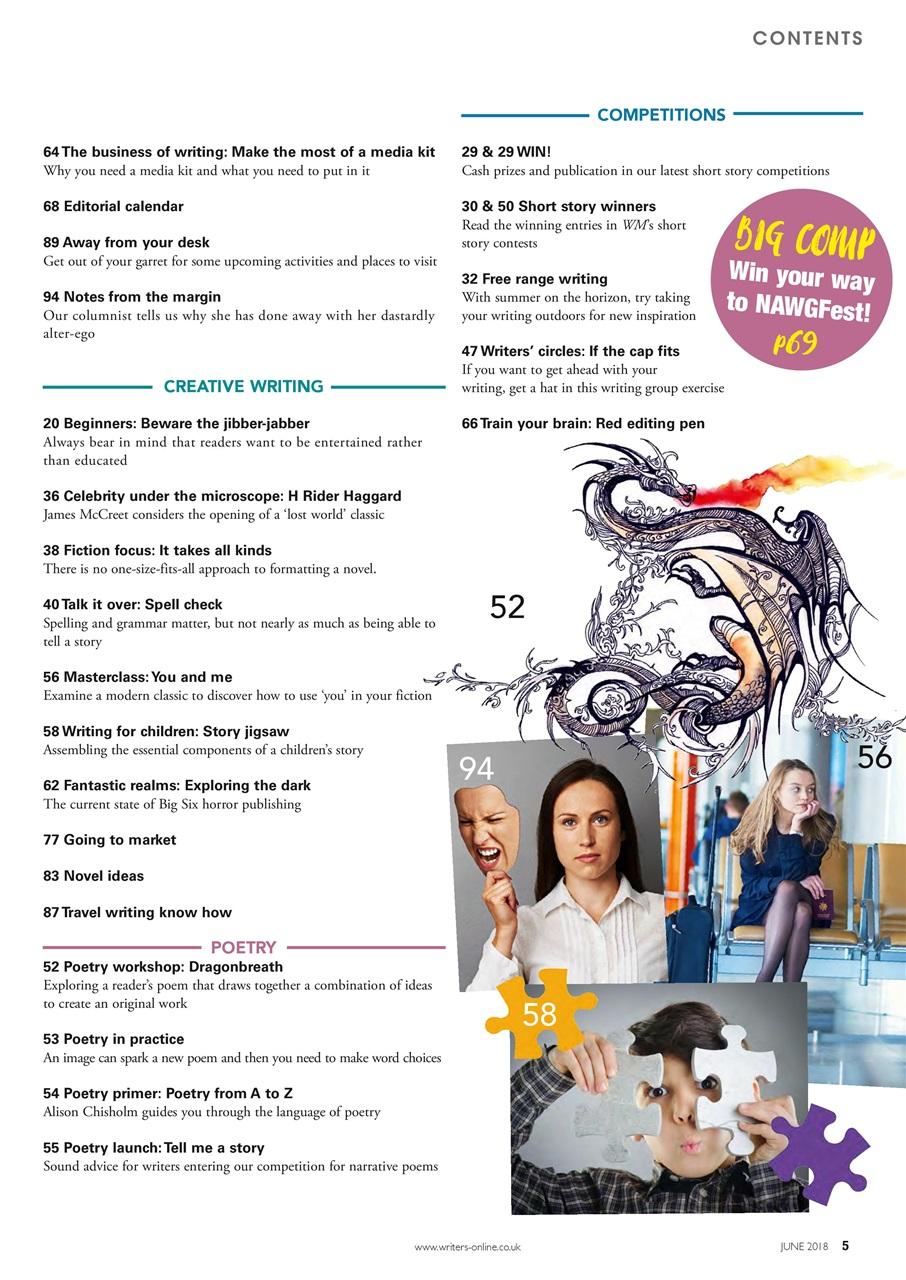 Writing Magazine June 2018 | Pocketmags com