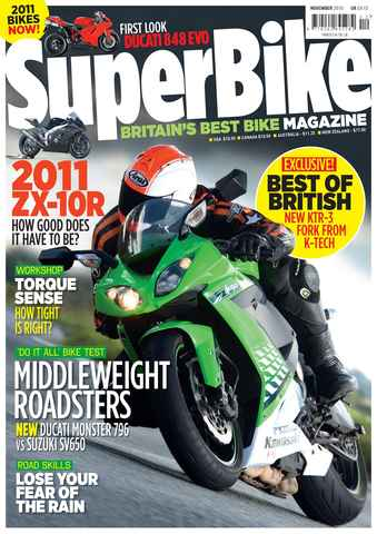 Superbike Magazine issue November 2010