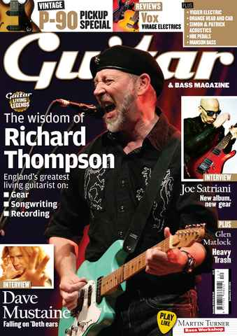 Guitar & Bass Magazine issue December 2010 Richard Thompson