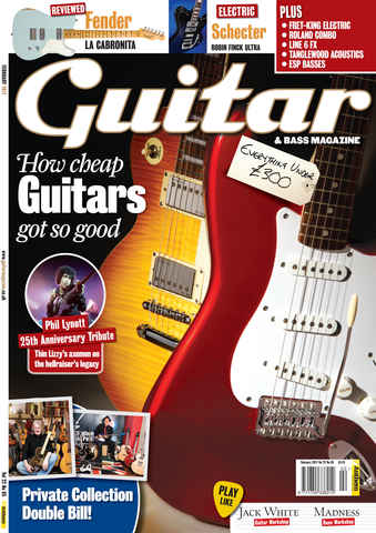 Guitar & Bass Magazine issue February 2011 Cheap Guitars