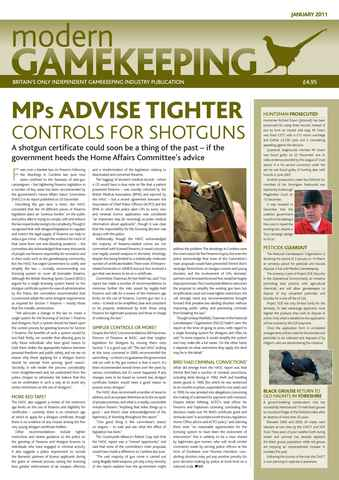 Modern Gamekeeping issue JANUARY 2011