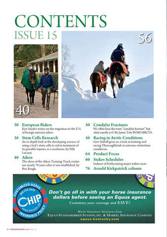 North American Trainer Magazine - horse racing Preview 6