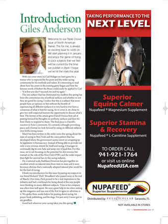 North American Trainer Magazine - horse racing Preview 3