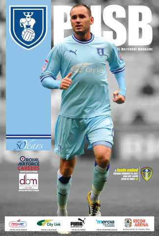 CCFC Official Programmes issue 18 v LEEDS UNITED (11-12)