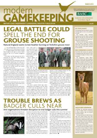 Modern Gamekeeping issue MARCH 2012