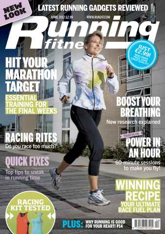 Running Fitness issue Get Marathon Ready April 2012