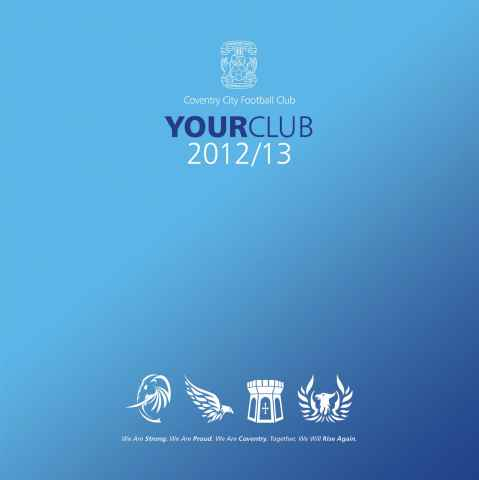 CCFC Official Programmes issue Your Club 2012-13