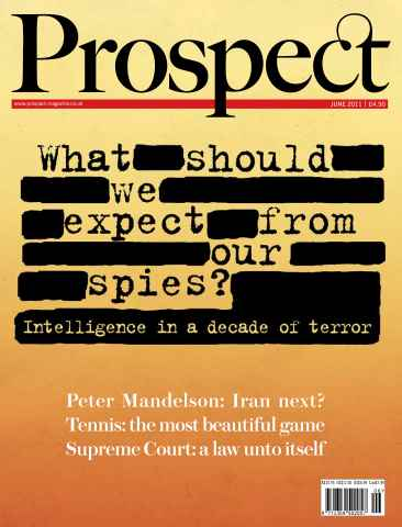Prospect Magazine issue 183. June 2011