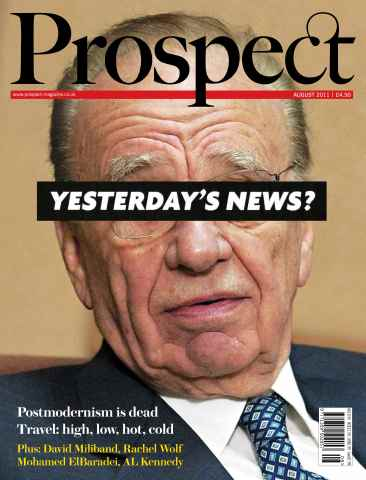 Prospect Magazine issue 185. August 2011