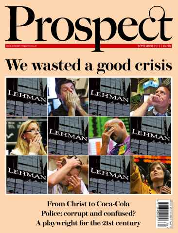 Prospect Magazine issue 186. September 2011