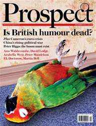 Prospect Magazine issue 189. December 2011